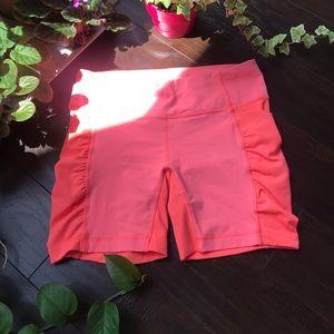 Lululemon neon pink biker shorts sz 8